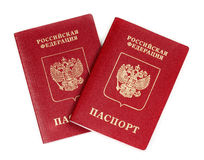 Two Russian international passport Stock Image