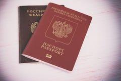 Two russian passports Stock Photo
