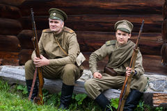 Two russian soldiers of the first world war. Stock Images