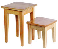 Two rustic stools Royalty Free Stock Images