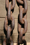 Two Rusty Chains Stock Photos