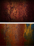 Two rusty iron plate. Grunge Background stock photos