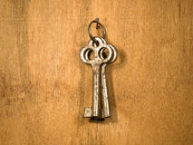 Two rusty keys. Royalty Free Stock Image
