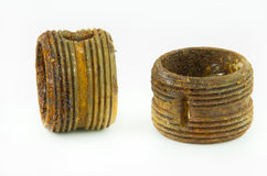 Two rusty threads stock image