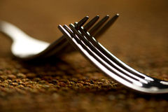 Two rutting forks Royalty Free Stock Photography