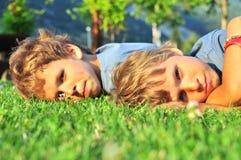 Two sad boys Royalty Free Stock Photos