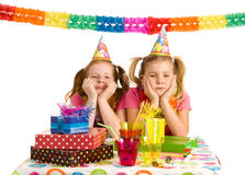 Two sad girls on a party Royalty Free Stock Photo