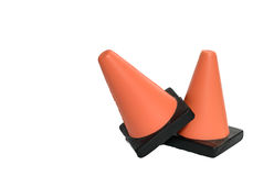Two Safety Cones Stock Image
