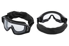 Two safety glasses, white background stock image