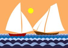Two sailboat Stock Images