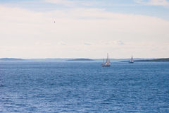 Two Sailboats Stock Photos