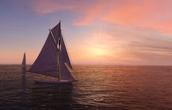 Two sailboats Royalty Free Stock Images