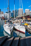Two sailboats in the harbor of Sydney Royalty Free Stock Photography