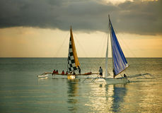 Two sailing boat Royalty Free Stock Image