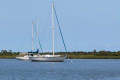 Two sailing boats Royalty Free Stock Image