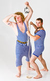 Two Sailor Boys Royalty Free Stock Photos