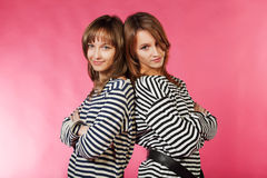 Two sailor girls Royalty Free Stock Photo