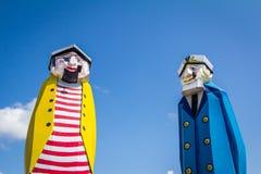 Two Sailors. Watch over Port Aransas Texas Stock Photos