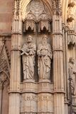 Two Saints on a Spanish Church Stock Photography