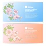 Two sakura banners Royalty Free Stock Photography