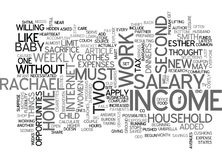 When A Two Salary Income Fails Word Cloud Royalty Free Stock Photography