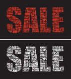 Two sale signs Stock Photos