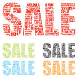 Two sale signs Royalty Free Stock Image