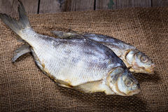 Two salted dry fish Stock Photos