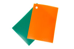 Two samples of PVC linoleum flooring Stock Photography