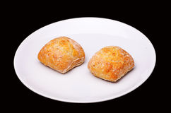Two sandwich buns Royalty Free Stock Photography