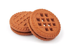 Two sandwich cookies Stock Image