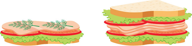 Two sandwiches Royalty Free Stock Photography