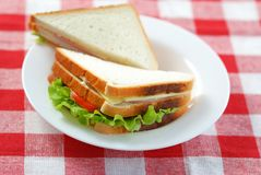 Two sandwiches stock photography