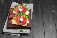 Two sandwiches bruschetta Stock Photo