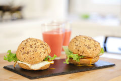 Two sandwiches with eggs Royalty Free Stock Photo