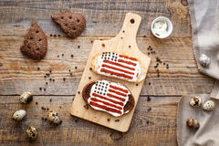 Two sandwiches with image of american flag. Royalty Free Stock Photo
