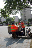 The two Sanitation workers in GUILIN Royalty Free Stock Images