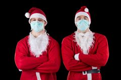 Two santa claus Royalty Free Stock Photo