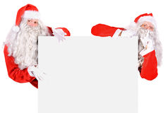 Two Santa Claus Royalty Free Stock Photography