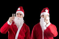 Two santa claus Stock Photography