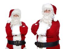 Two santa claus Royalty Free Stock Images