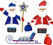 Two Santa Clauses Royalty Free Stock Photography
