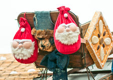 Two  santa decoration Royalty Free Stock Photography