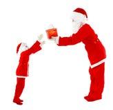 Two Santas Royalty Free Stock Photos