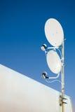Two satellite antenna Royalty Free Stock Photos