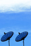 Two Satellite Dish Stock Image