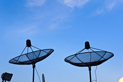 Two satellite dish Royalty Free Stock Photos