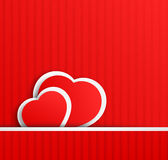 Two satine hearts Royalty Free Stock Image