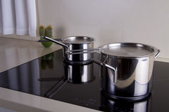 Two sauce pans Royalty Free Stock Photo