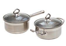Two Saucepans Stock Image